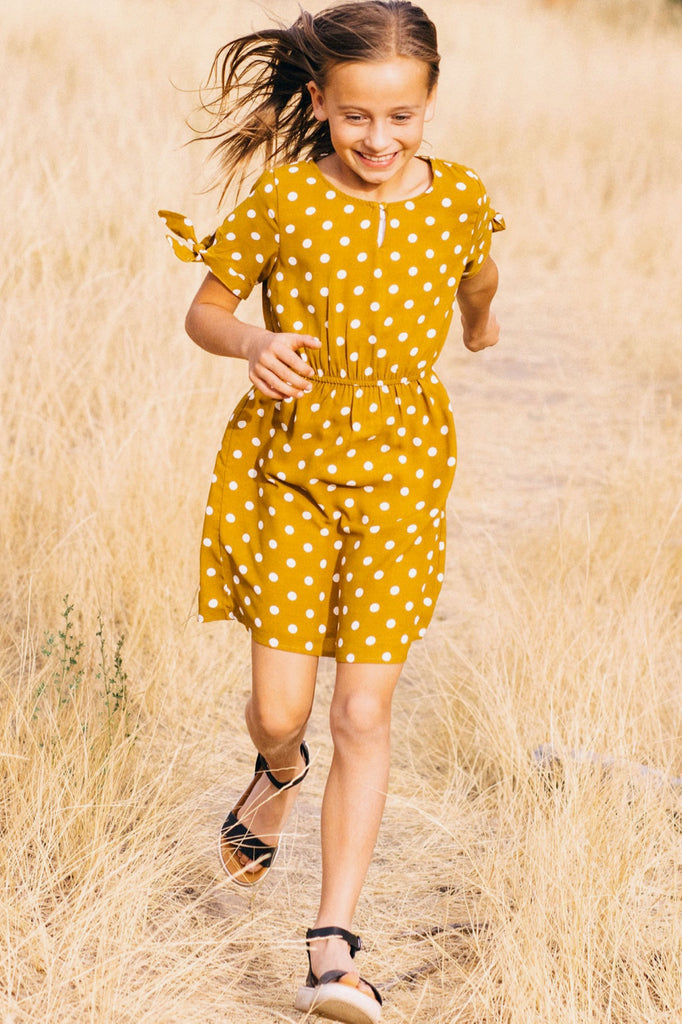 Short Sleeve Fall Dress Outfit Ideas For Little Girls | ROOLEE Kids