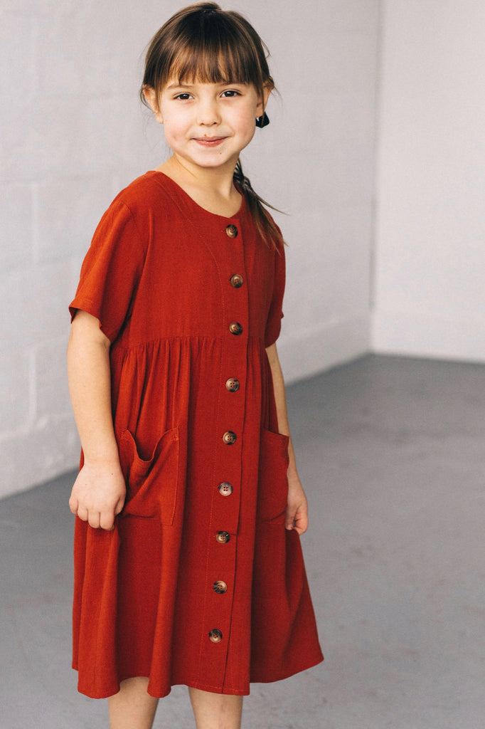 Cute Button Dresses for Girls | ROOLEE
