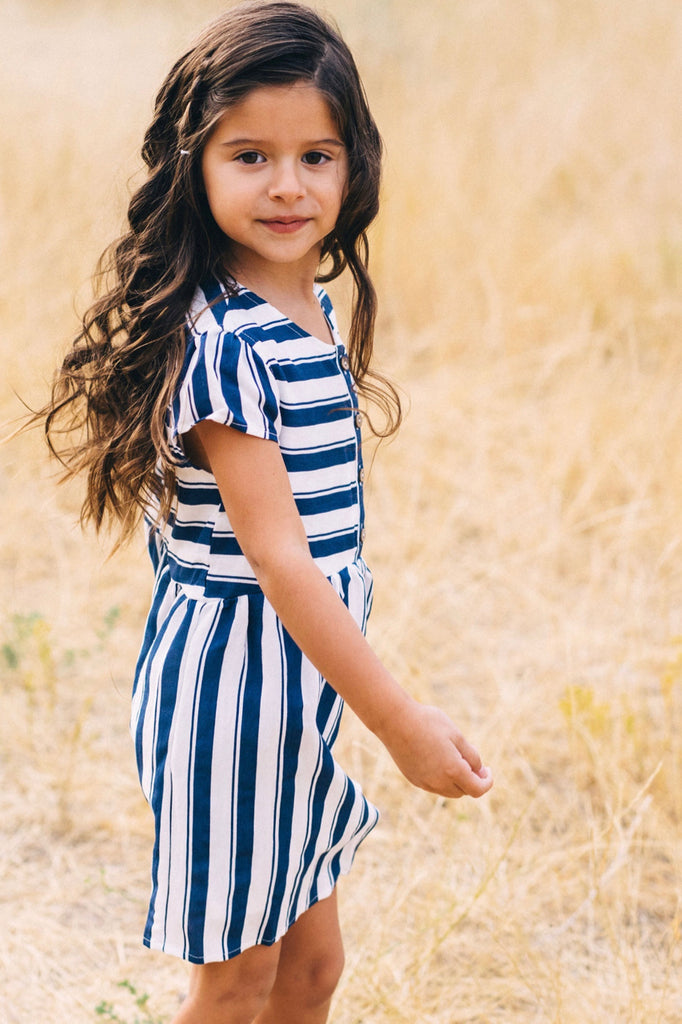 Mini Café Stripe Dress
