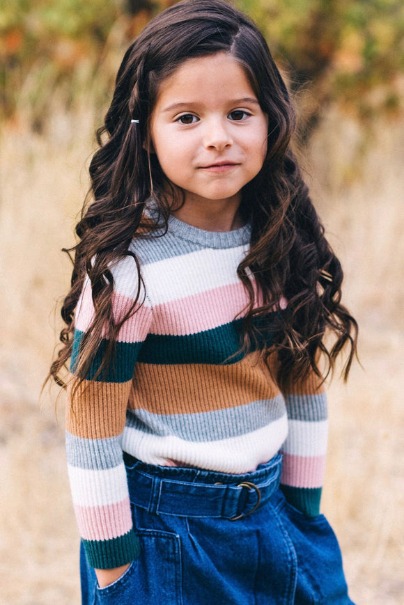 Stripe Sweater Outfit Ideas For Girls | ROOLEE Kids