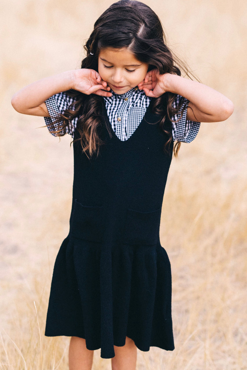 Casual fall sweater dress outfit for little girls | ROOLEE Kids