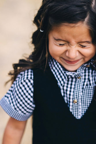 Plaid Button Up Top For Little Girls | ROOLEE Kids