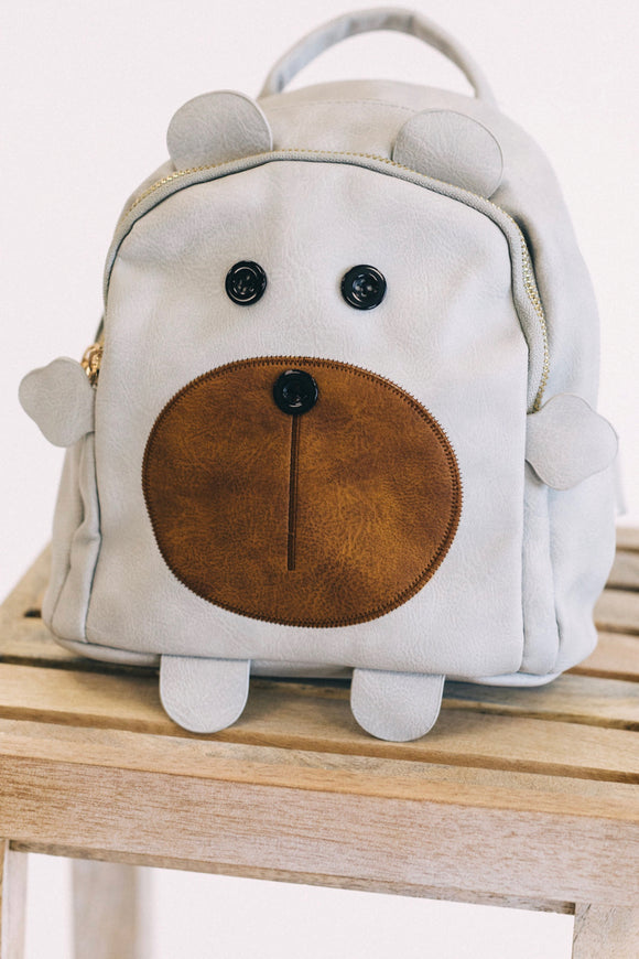 Little Bear Backpack in Grey | ROOLEE Kids