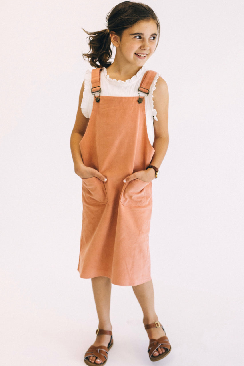 Overall Pocket Outfit Fort Girls | ROOLEE Kids