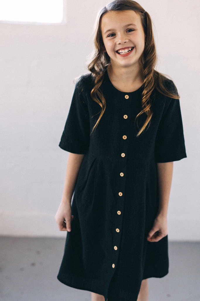Mini Eclipse Button Dress