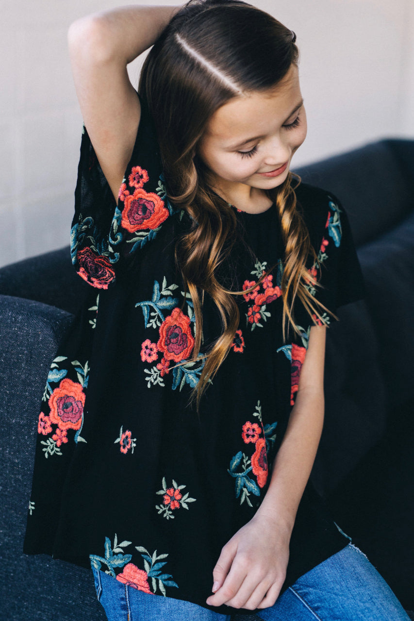 Girly Floral Top | ROOLEE