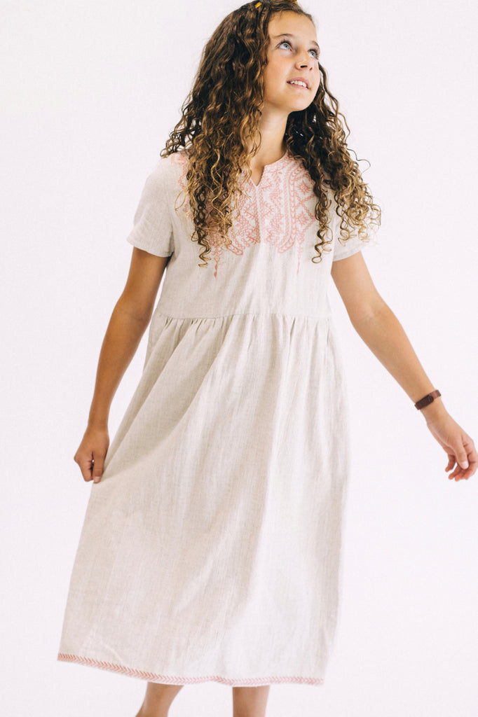 Jenny Embroidered Dress | ROOLEE Kids