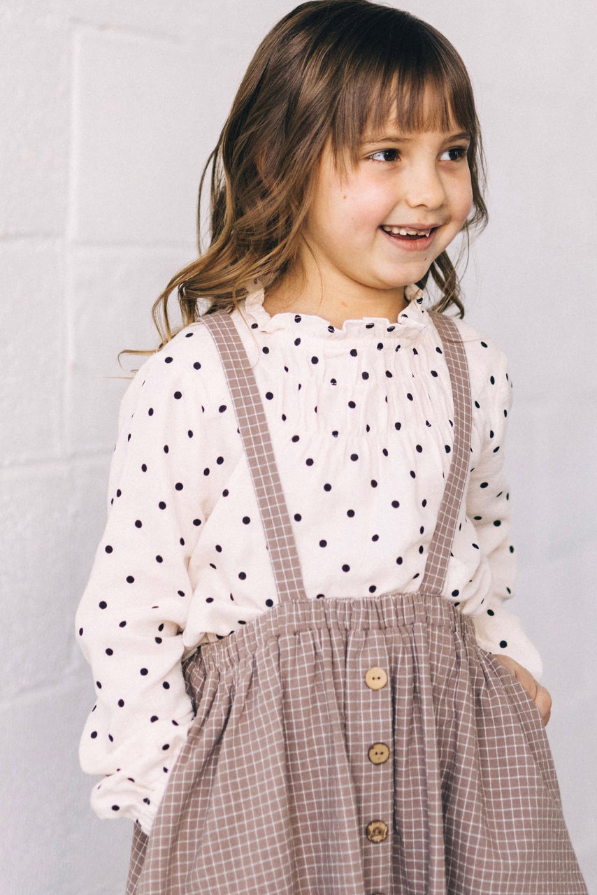 Cream Polka Dot Top | ROOLEE