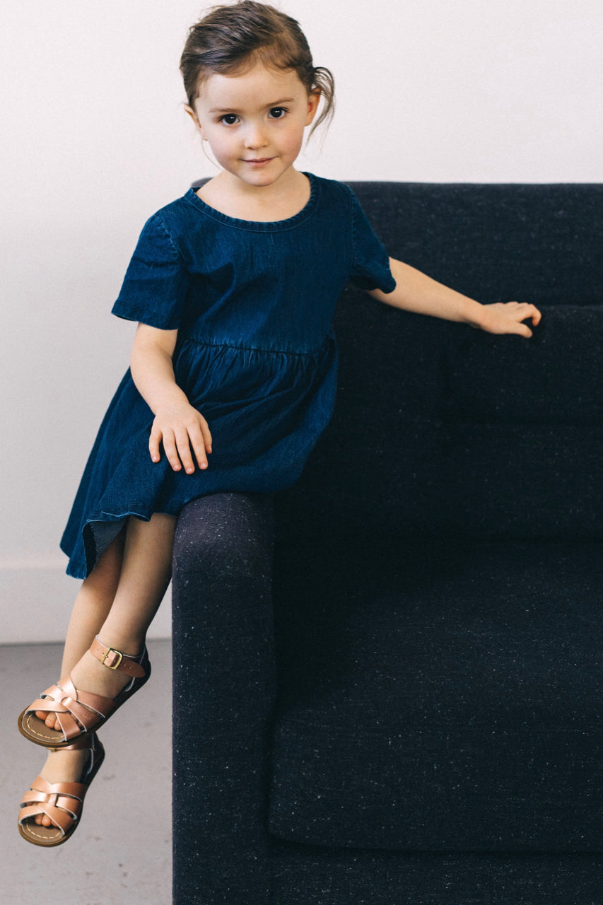 Girls Denim Dress Outfit | ROOLEE