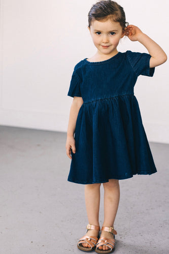 Girls Denim Dress | ROOLEE