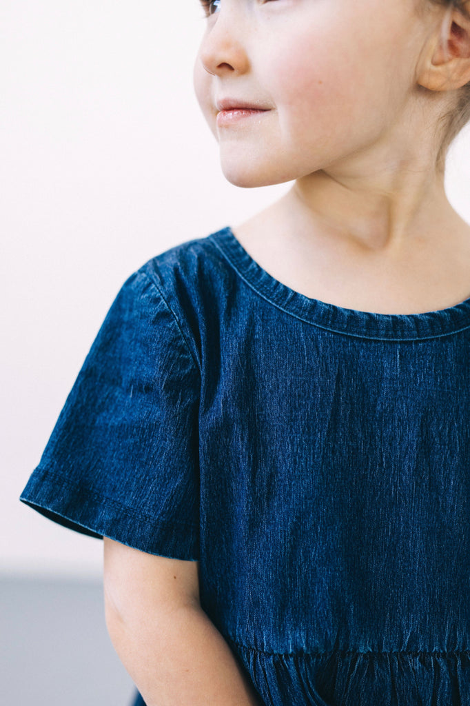 Kids Modest Denim Dress | ROOLEE