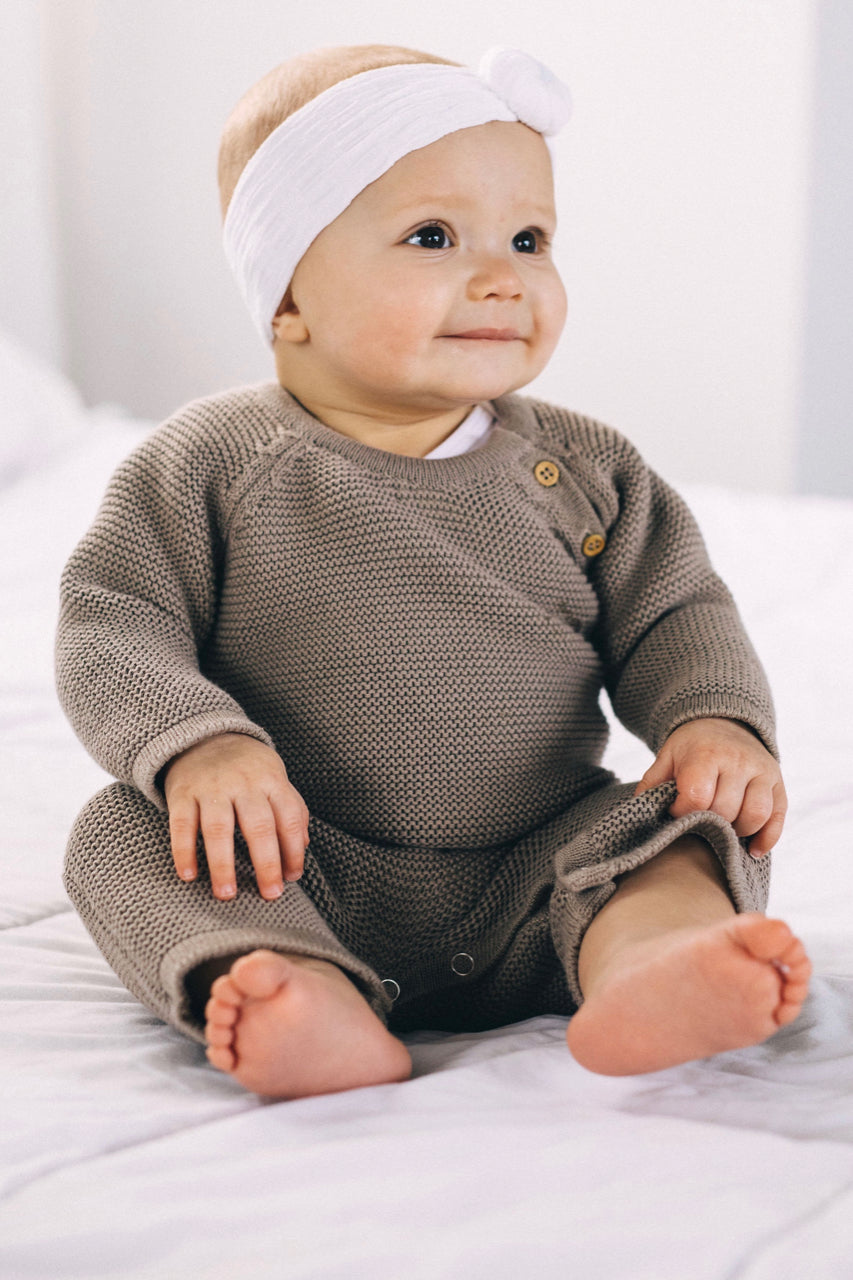 e32090b24 Happy Baby Clothing | ROOLEE Cute Baby Knit Onesie | ROOLEE ...