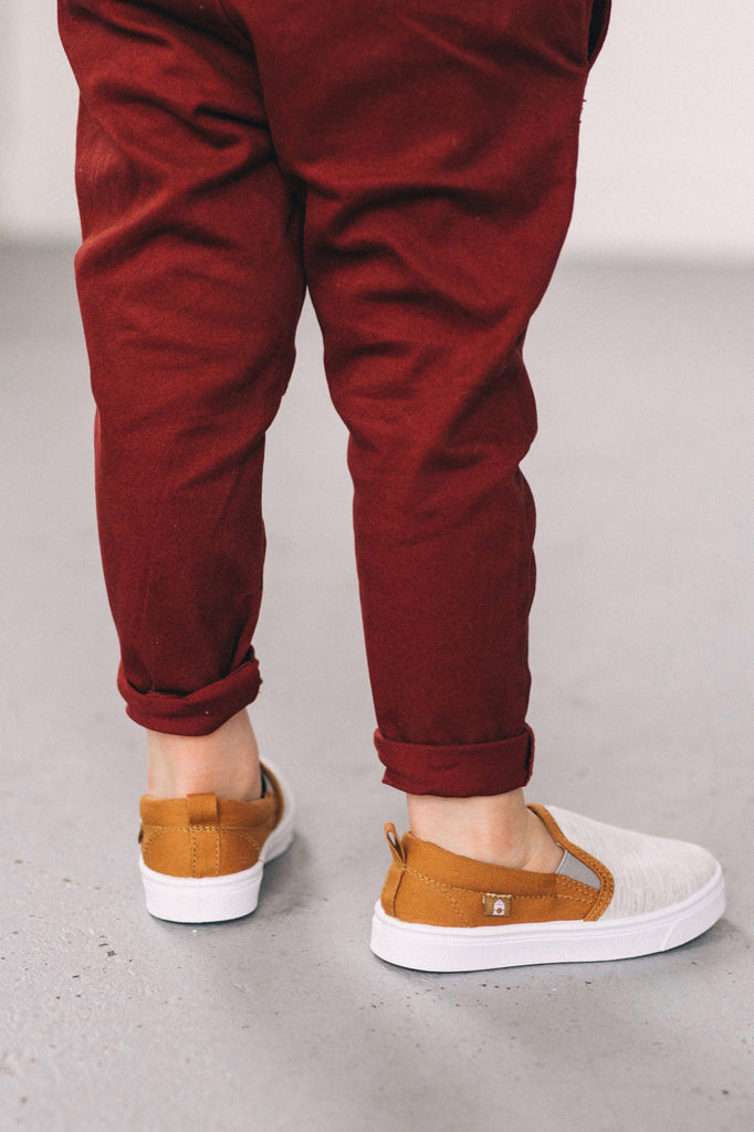 Red Slim Trousers | ROOLEE