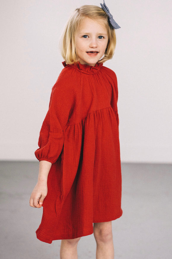Red Girls Dress | ROOLEE