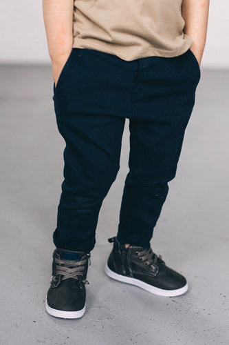 Navy Slim Trousers | ROOLEE