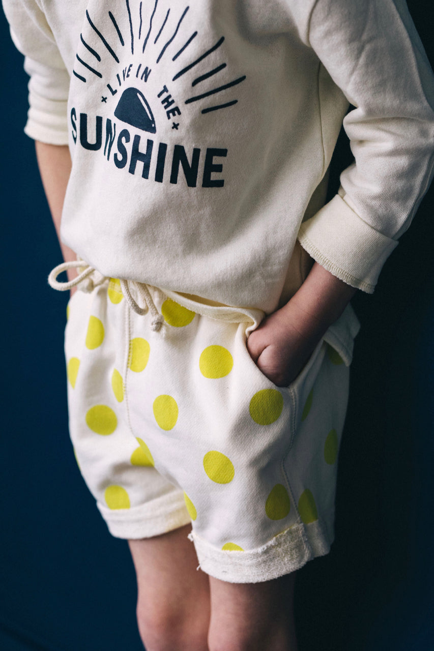 Polka Dot Sweat Shorts For Kids | ROOLEE