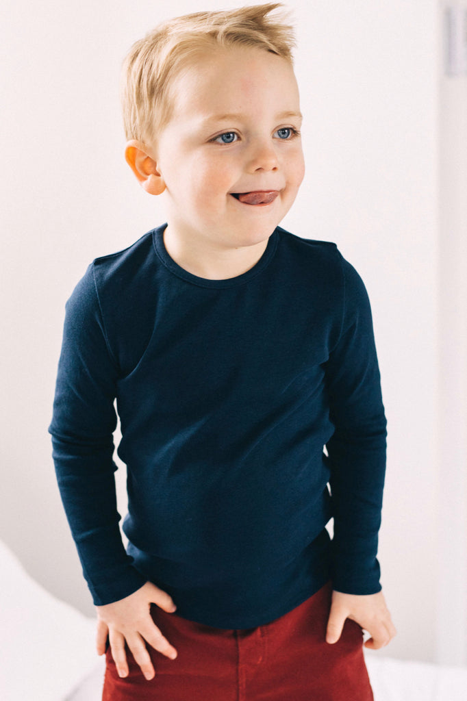 Boys Basic Long Sleeve Tee | ROOLEE