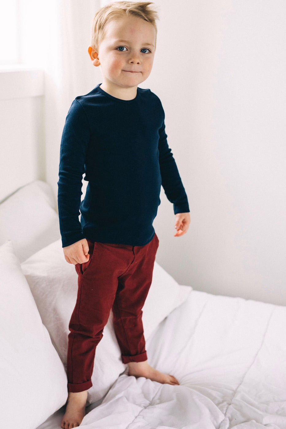 Boys Red Dress Pants | ROOLEE