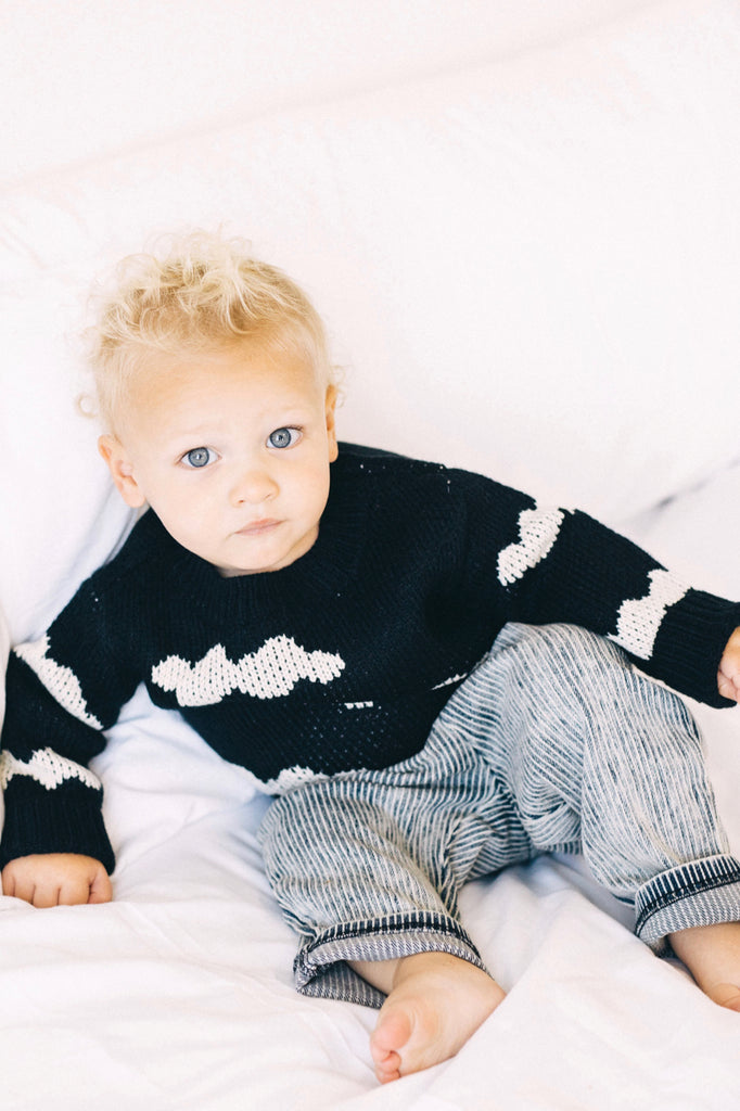 Black Cloud Print Sweater | ROOLEE Kids