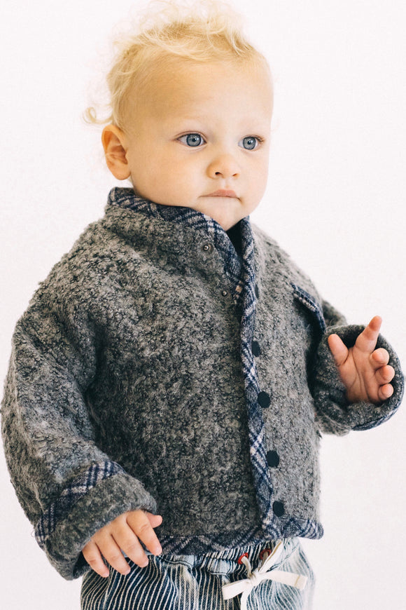 Button Up Sweater Jacket Outfit For Kids | ROOLEE