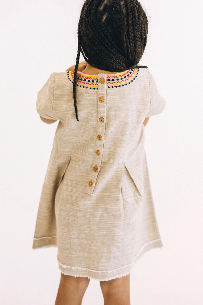 Button Up Back Kids Dress | ROOLEE