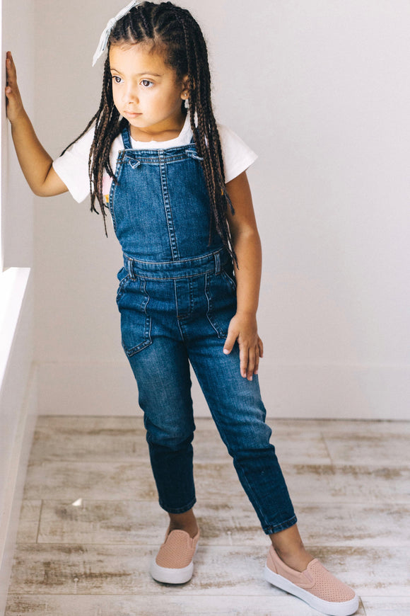 Adjustable Strap Denim Overall Outfit For Kids | ROOLEE Kids