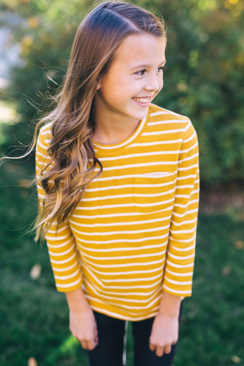 Long Sleeve Stripe Top For Kids | ROOLEE Kids