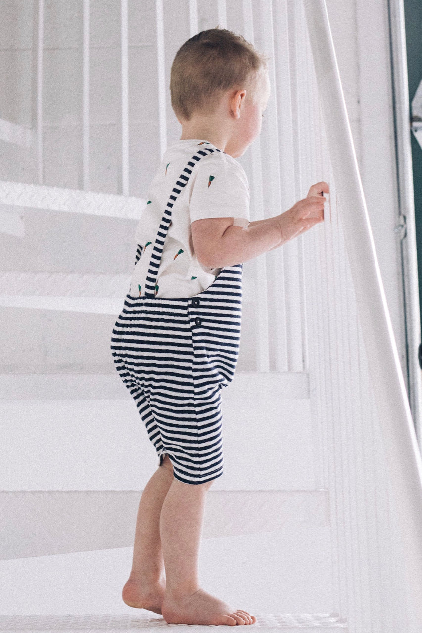 Open Back Stripe Overalls | ROOLEE
