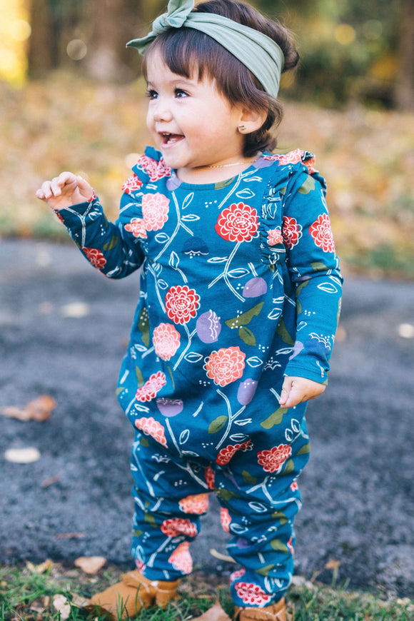 True Blue Floral One Piece | ROOLEE Kids