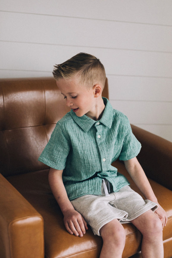 Boys Collared Woven Shirt | ROOLEE