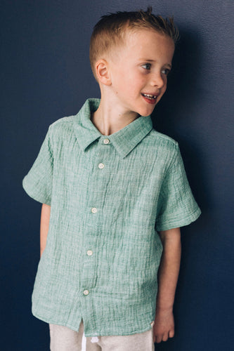 Textured Woven Boys Shirt | ROOLEE