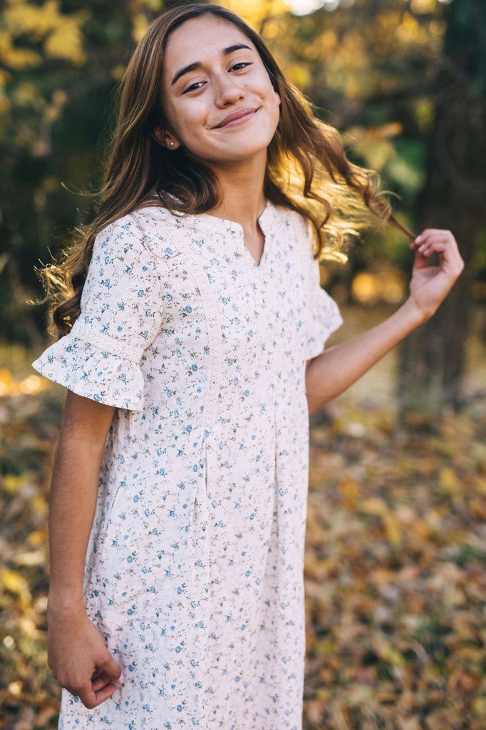 Floral Print Dress For Little Girls | ROOLEE Kids