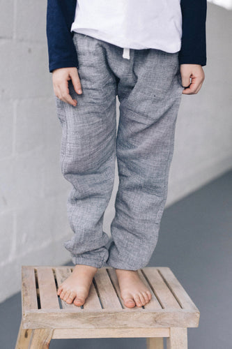 Long Linen Boys Pants | ROOLEE
