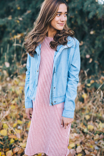 Stripe Dress Outfit Ideas For Fall | ROOLEE Kids