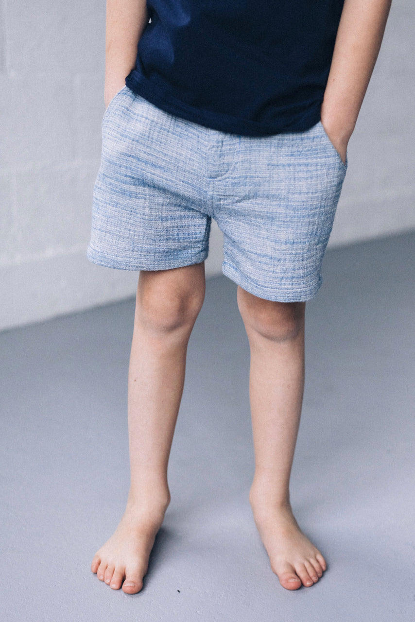 Blue Woven Shorts | ROOLEE