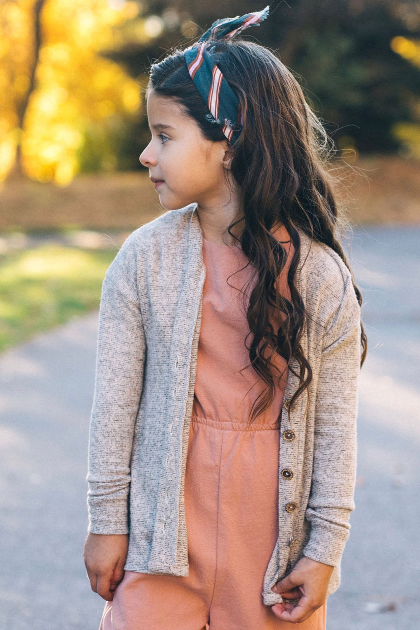 Stripe Knit Cardigan Sweater For Kids | ROOLEE
