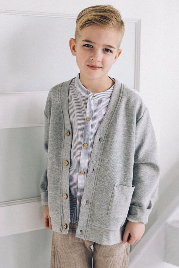 Boys Button Cardigan | ROOLEE
