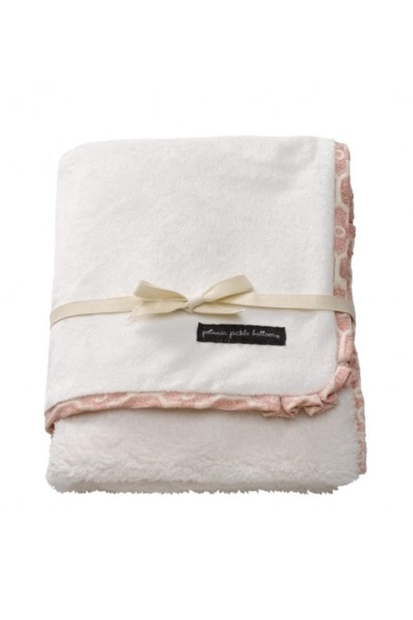 Pink Ruffle Receiving Blanket