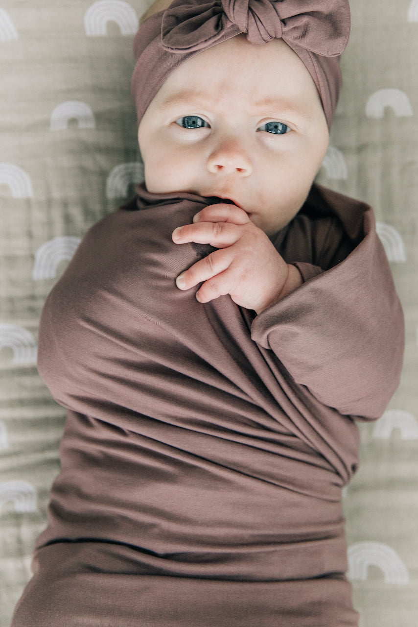 Muted purple baby swaddle | ROOLEE
