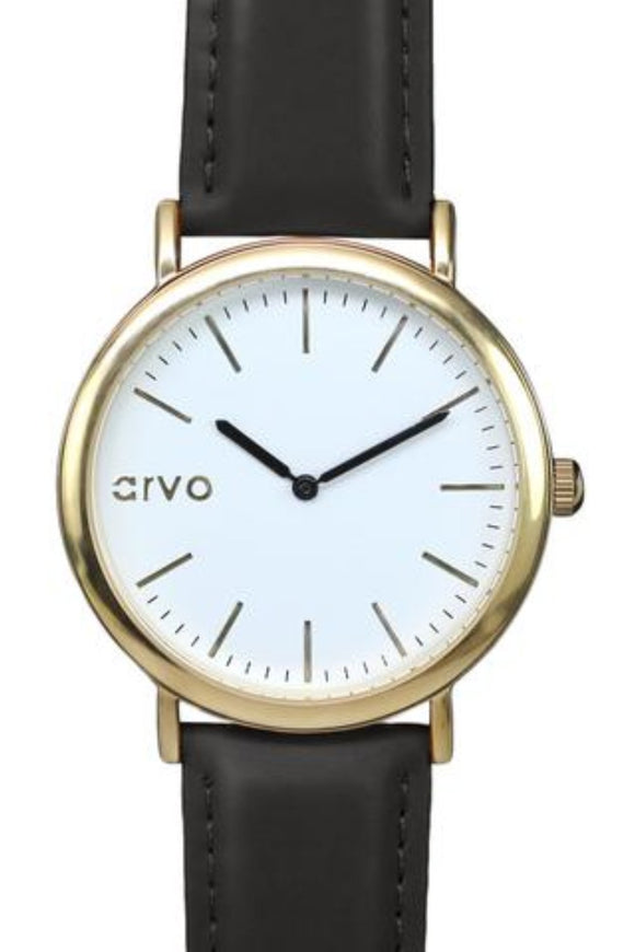 Arvo White Time Sawyer Black Band