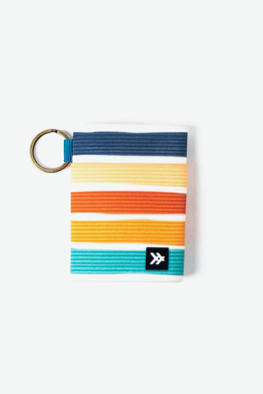 Bold stripe colorful stocking stuffer wallet | ROOLEE