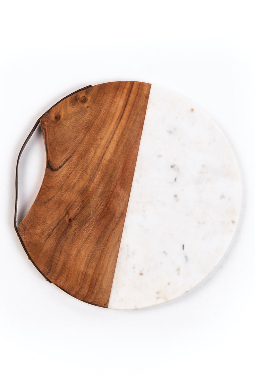 Marble and Wood Serving Board | ROOLEE
