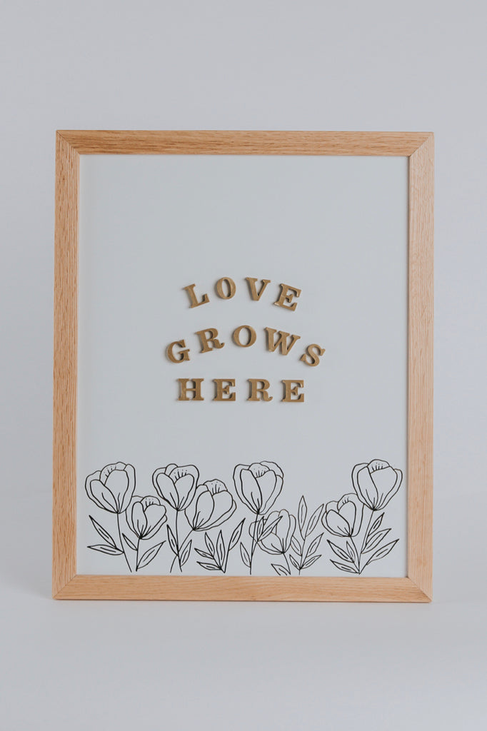 Magnetic Letter Board Kit in White | ROOLEE Home