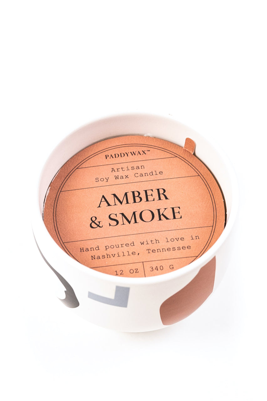 Amber and Smoke Scented Candle | ROOLEE