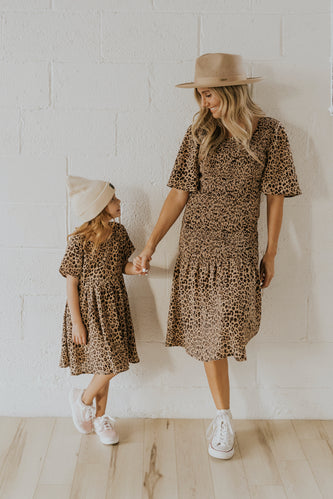 Mini Cheetah Sisters Detail Dress