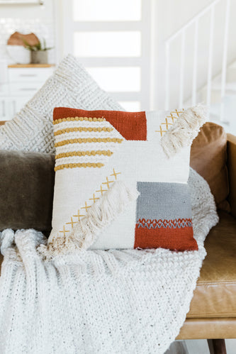 Textured Square Pillow | ROOLEE