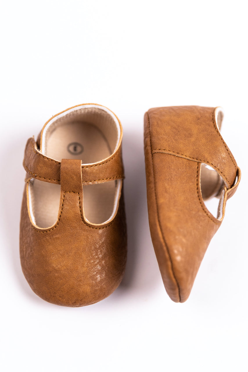Brown Leather Baby Shoes | ROOLEE