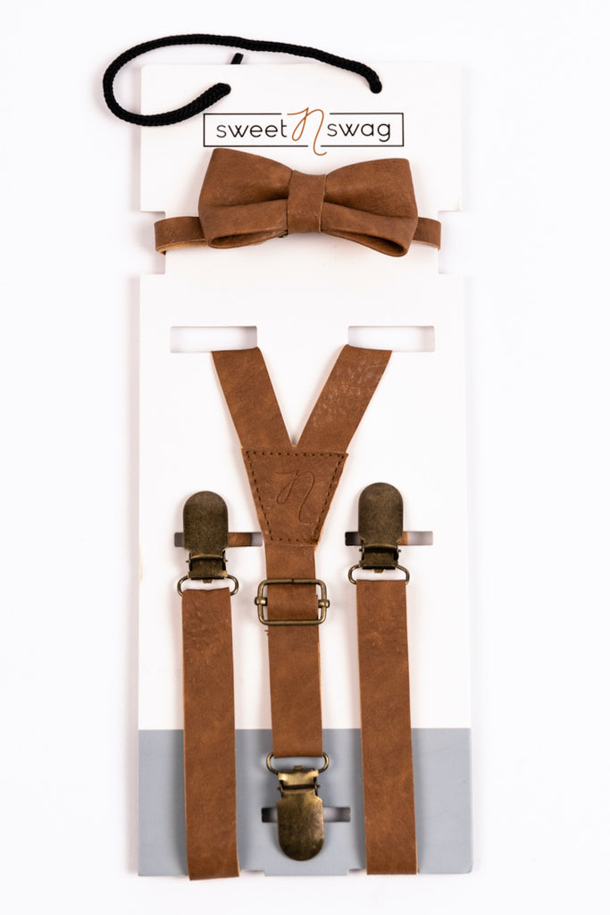 Brown Leather Bow Tie | ROOLEE