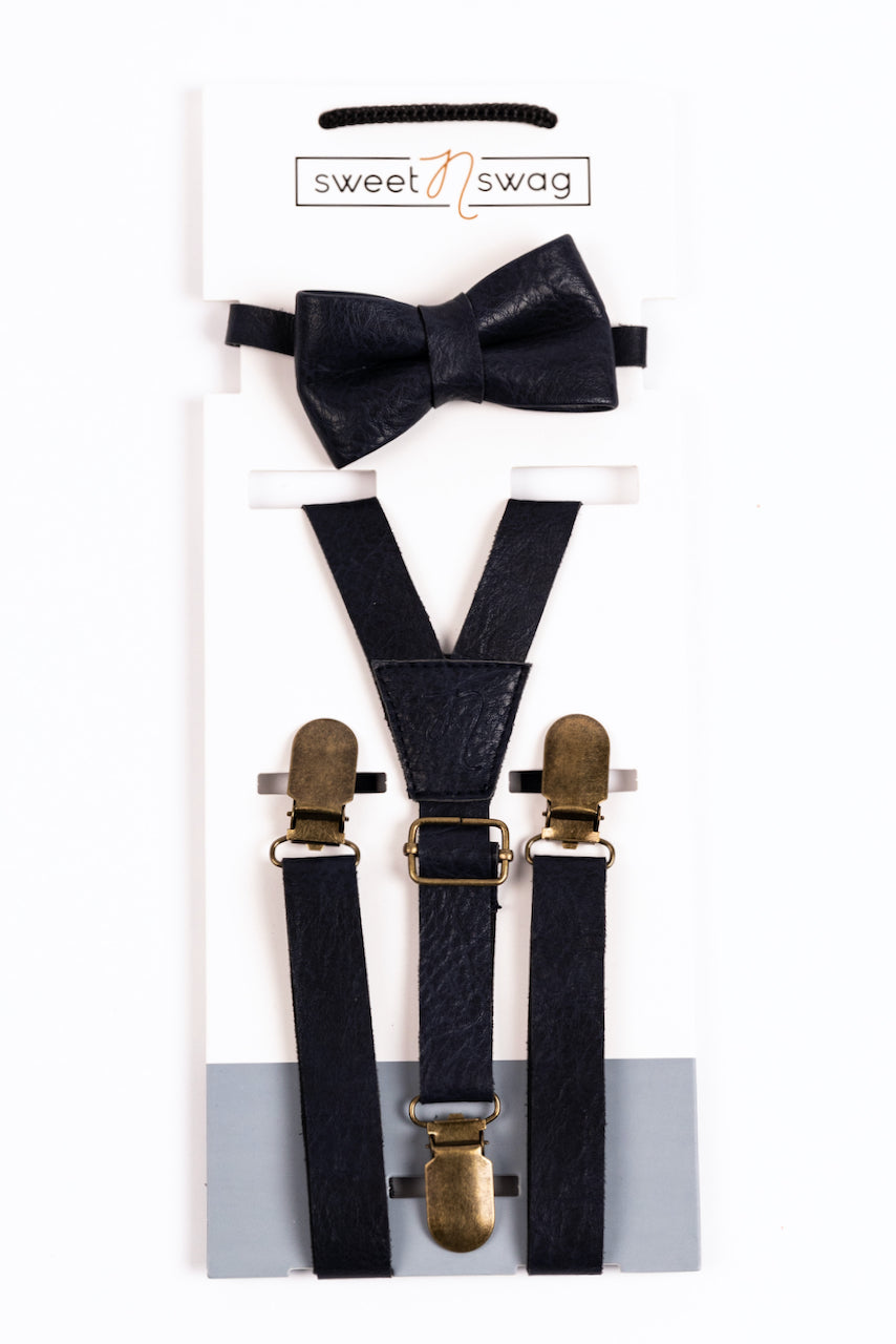 Navy Bow Tie Set For Boys | ROOLEE