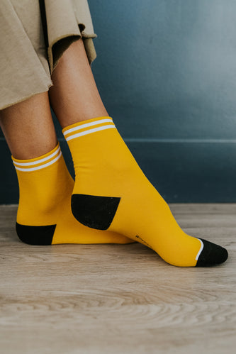 Yellow Crew Socks | ROOLEE